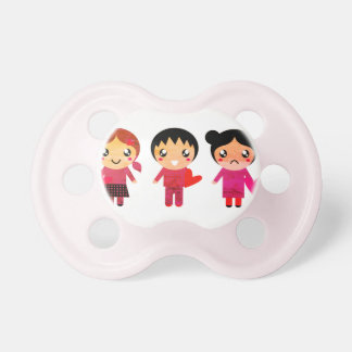 Kids pacifier with Emo characters
