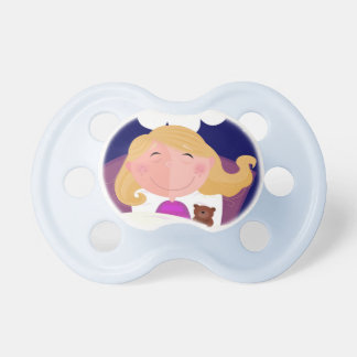 Kids pacifier with Hand-drawn little girl