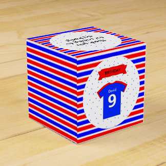 Kids party 9th birthday custom name favour box