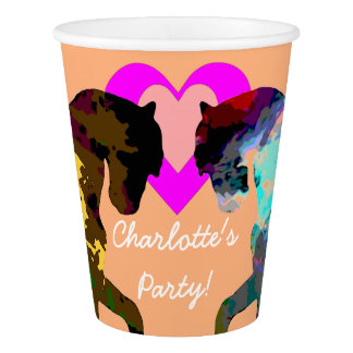 Kids Party Cups Horses Personalized