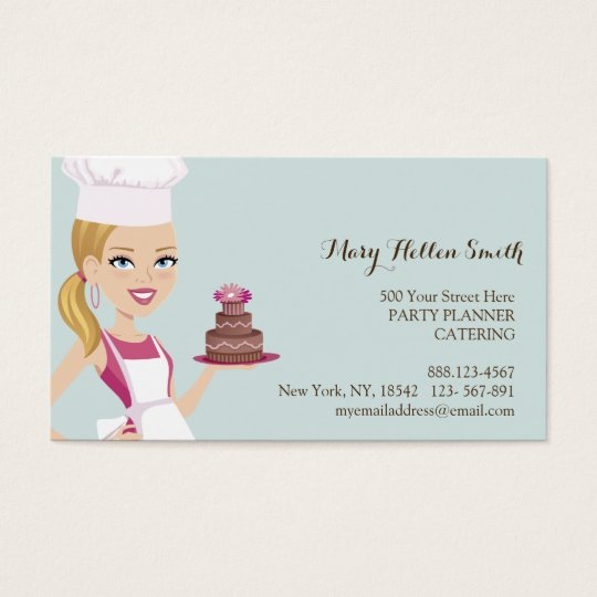 Kids Party Event Organiser Cake Designer Card