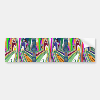 KIDS party giveaway GIFTS Colorful Abstract Art Bumper Stickers