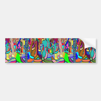 KIDS party giveaway GIFTS Colorful Abstract Art Bumper Sticker