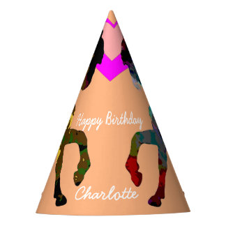 Kids Party Hats Horses Personalized