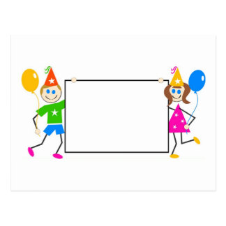 Kids Party Sign Postcard
