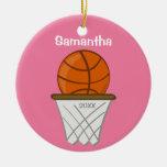 Kids Personalised Girl Basketball Pink Keepsake