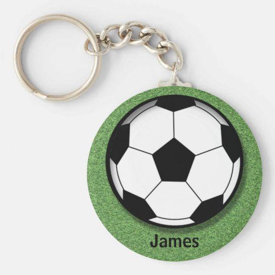 Kids Personalised Soccer Ball Key Chain
