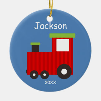 Kids Personalized Christmas Train Ornament