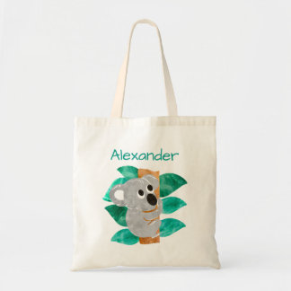 Kids Personalized Watercolor Koala Bear Animal