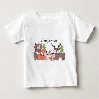 Kids Personalized Woodland Theme T-shirt