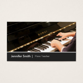 Kids Piano Lessons - Piano Teacher / Instructor Business Card