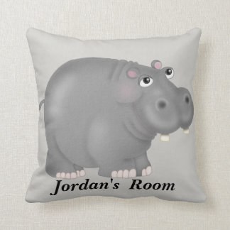 Kid's Pillow Cute Baby Hippo