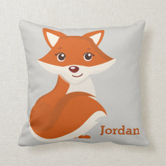 Kid's Pillow Cute Woodland Fox