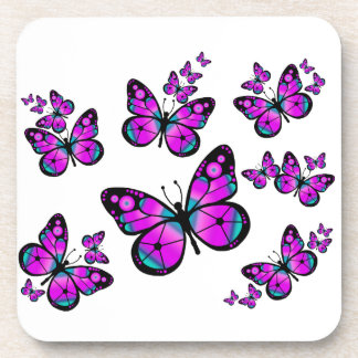 Kids Pink Butterfly Coasters