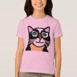 Kids Pink Cat Cartoon T-shirt