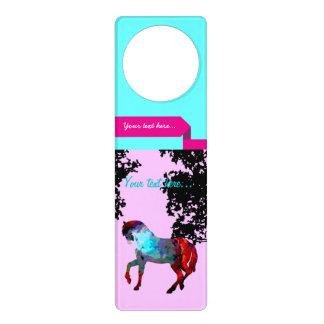 Kids Pink Horse Door Hanger