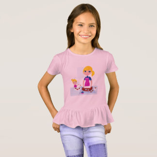 Kids pink t-shirt with Happy mother