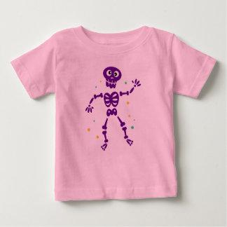 Kids pink t-shirt with Skeleton purple