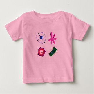 Kids pink t-shirt with VIRUSES