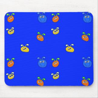 Kid's Placemat Mousepad Blue Bugs