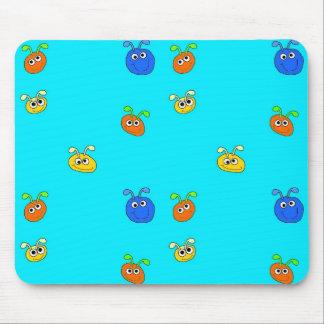 Kid's Placemat Mousepad Light Blue Bugs