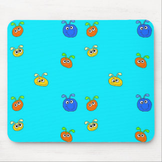 Kid's Placemat Mousepad Light Blue Bugs Mouse Pad