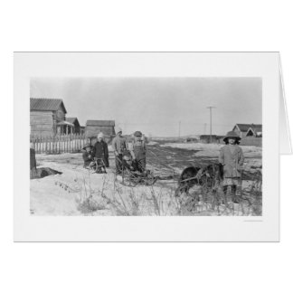 Kids Play in Nome Alaska 1914 Greeting Cards
