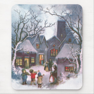 Kids Play Music for Lit Up Town Vintage New Year Mouse Pad