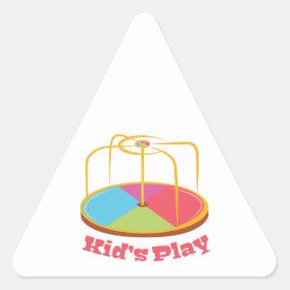 Kid's Play Triangle Sticker