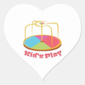 Kid's Play Heart Sticker