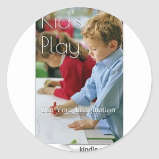 Kid's Play: Use Your Imagination (Love Edition) Round Sticker