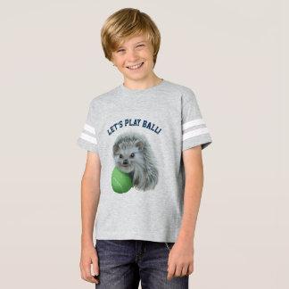 Kids' Playful Hedgehog Football Shirt