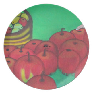 """""""Kids Playing and Picking Apples"""" Plate"""
