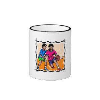 Kids Playing Basketball Mug