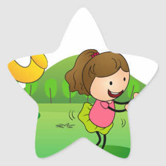 kids playing music star sticker