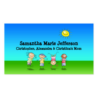 Kids Playing Outdoors Calling Card, Personal Use Pack Of Standard Business Cards