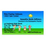 Kids Playing Outdoors Child Care Childcare Centre Pack Of Standard Business Cards