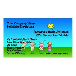 Kids Playing Outdoors on a Sunny Day Appointment Business Cards