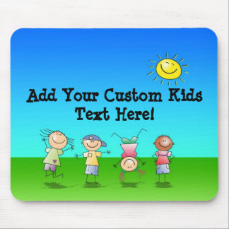 Kids Playing Outdoors on a Sunny Day Mouse Mat