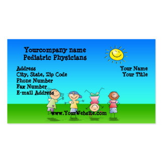 Kids Playing Outdoors on a Sunny Day Pack Of Standard Business Cards
