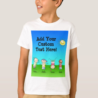 Kids Playing Outdoors on a Sunny Day T-Shirt