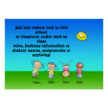 Kids Playing Personalised Classroom Poster