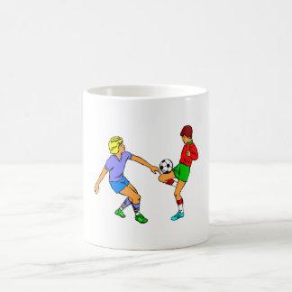 Kids Playing Soccer Mugs