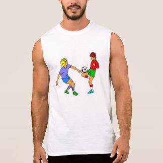 Kids Playing Soccer Sleeveless T-shirt