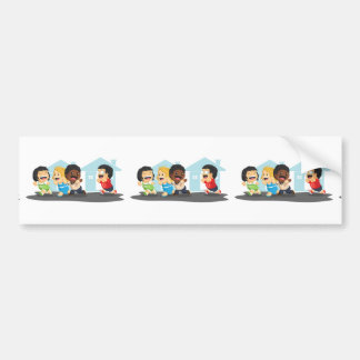 Kids Playing Tag Bumper Sticker