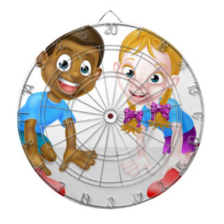Kids Playing with Cars Dart Board