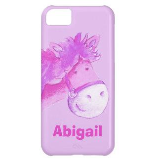 Kids pony purple girls name iphone 5 case