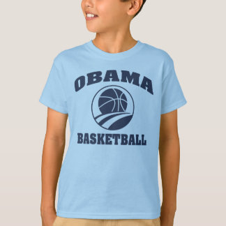 Kid's premium blue Obama basketball T-shirt