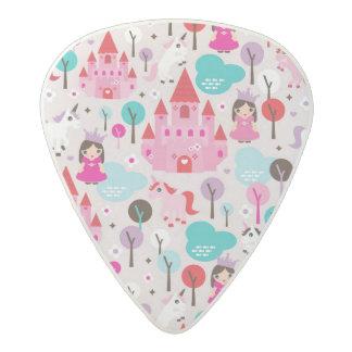 kids princess castle and unicorn acetal guitar pick