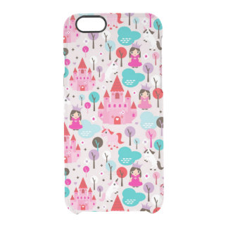 kids princess castle and unicorn clear iPhone 6/6S case
